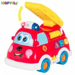 ماشین آتش نشانی آموزشی و موزیکال هویله تویز 526
