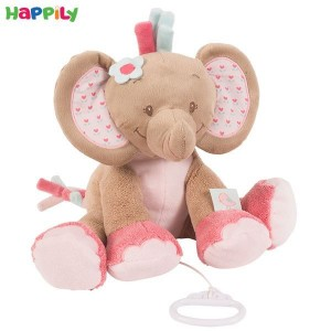 عروسک موزیکال فیل صورتی ناتو 655040