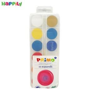 آبرنگ 12 رنگ Primo همراه با قلم مو 118A12P
