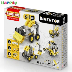 ساختنی 8 در 1 engino ماشینهای صنعتی 0834