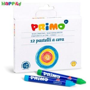 مداد شمعی Primo جعبه مقوایی 12 رنگ 051PC12I