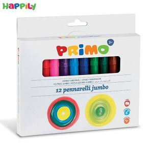 ماژیک نقاشی Primo جامبو 12 رنگ 603JUMBO12