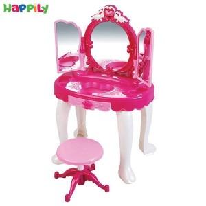 میز آرایشی ریموت دار موزیکال و صندلی دار 00818