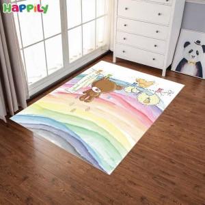 فرش اتاق کودک طرح خرس رنگین کمان  52303
