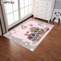 فرش اتاق کودک طرح جغدها 52309