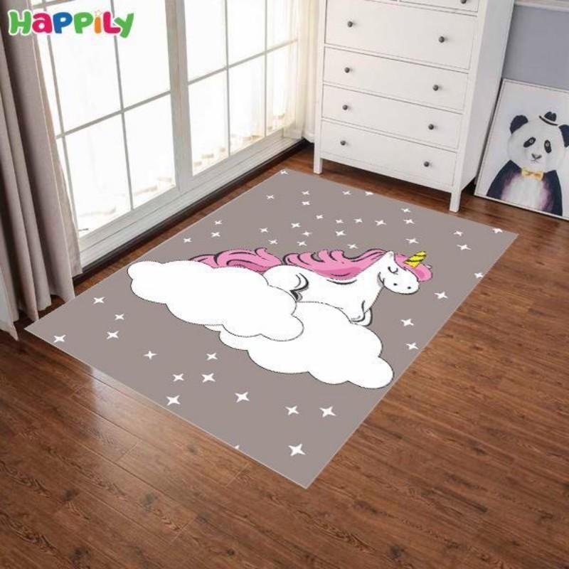فرش اتاق کودک طرح رویای یونیکورن 52317