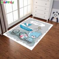 فرش اتاق کودک طرح خرس کوچولو با کالسکه 52332