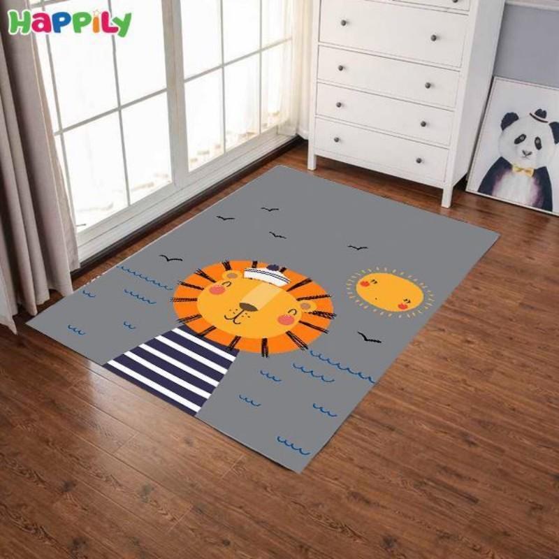 فرش اتاق کودک طرح شیر 52346