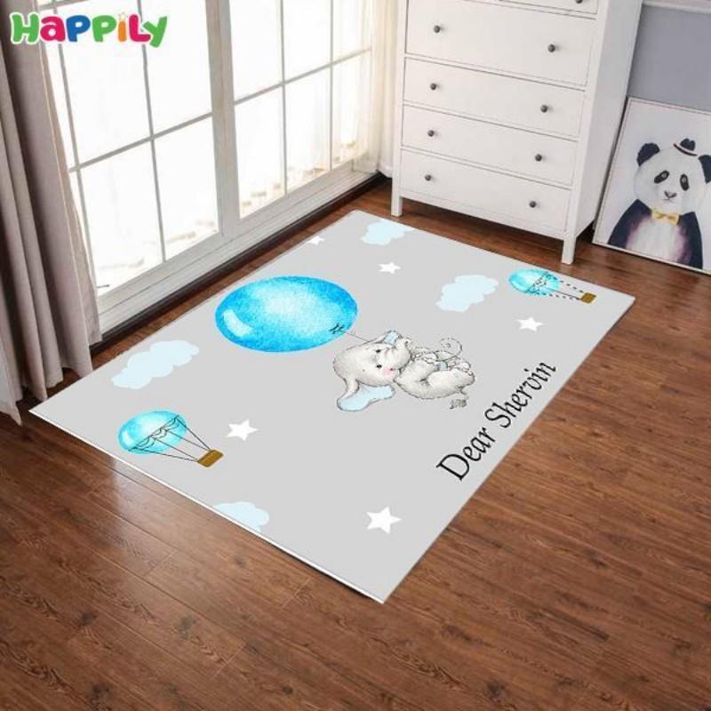 فرش اتاق کودک طرح فیل کوچولو 52354