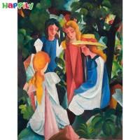 پازل D-Toys طرح نقاشی چهار دختر اثر آگوست ماکه 72863MA01