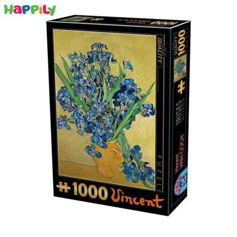 پازل D-Toys طرح نقاشی گل زنبق اثر ونسان ون گوگ 66916VG13