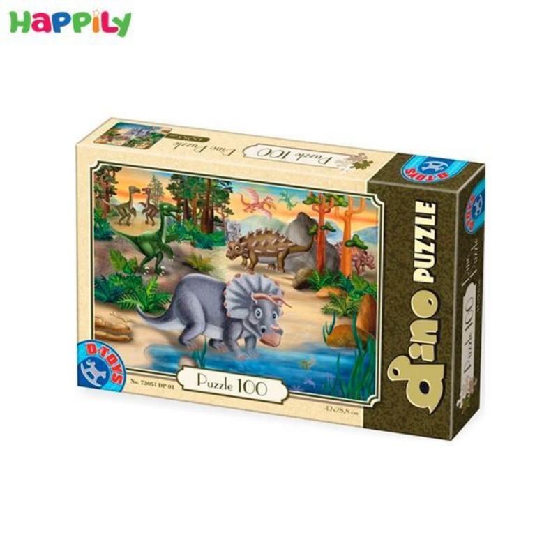 پازل D-Toys طرح دایناسور ها مدل1 100 تکه 73037DP01
