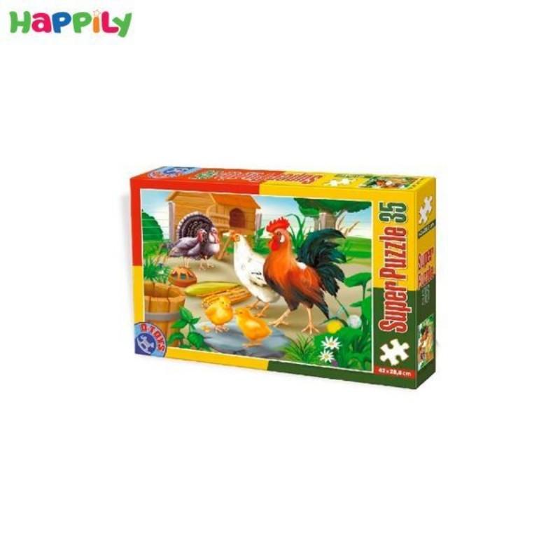 پازل D-Toys طرح پرندگان مزرعه 35 تکه 60198AN01