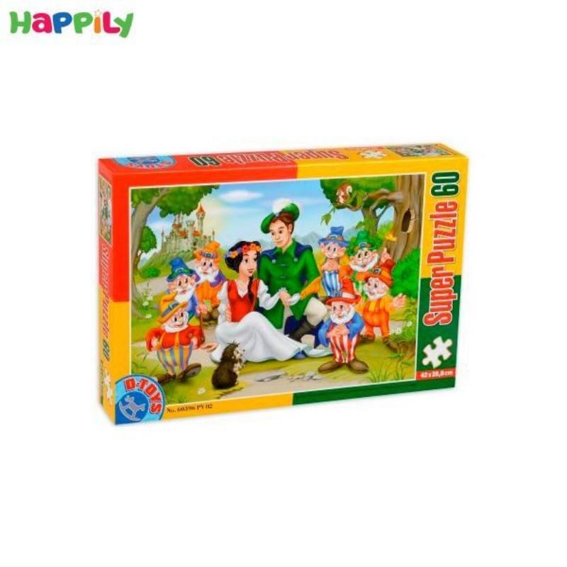 پازل D-Toys طرح سفیدبرفی و هفت کوتوله 60 تکه 60396PV02