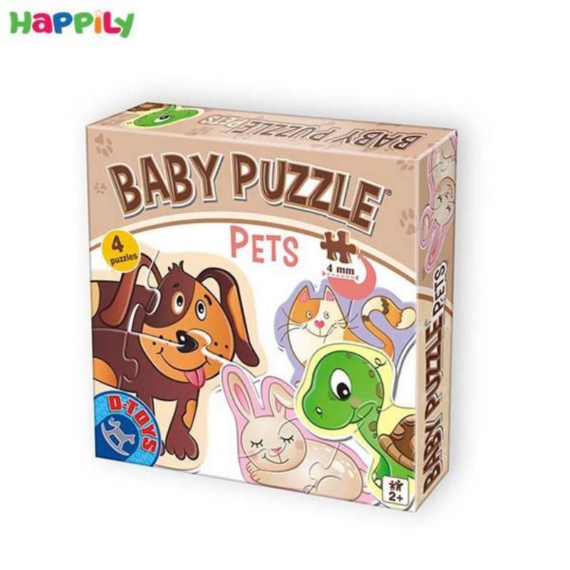 پازل D-Toys مخصوص کودکان طرح حیوانات اهلی 4 در 1 71255