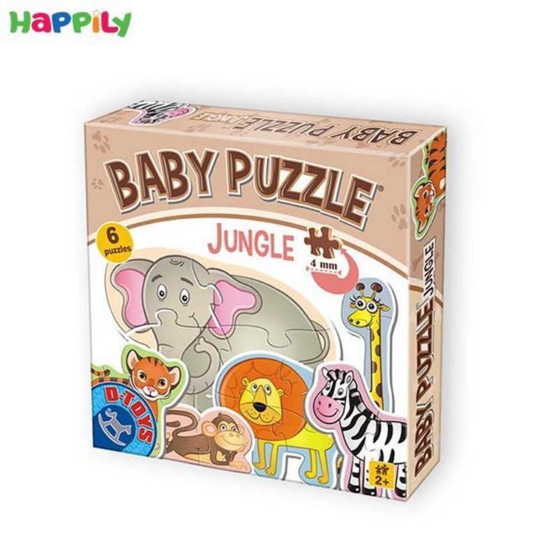 پازل D-Toys مخصوص کودکان طرح حیوانات جنگل 6 در 1 71286