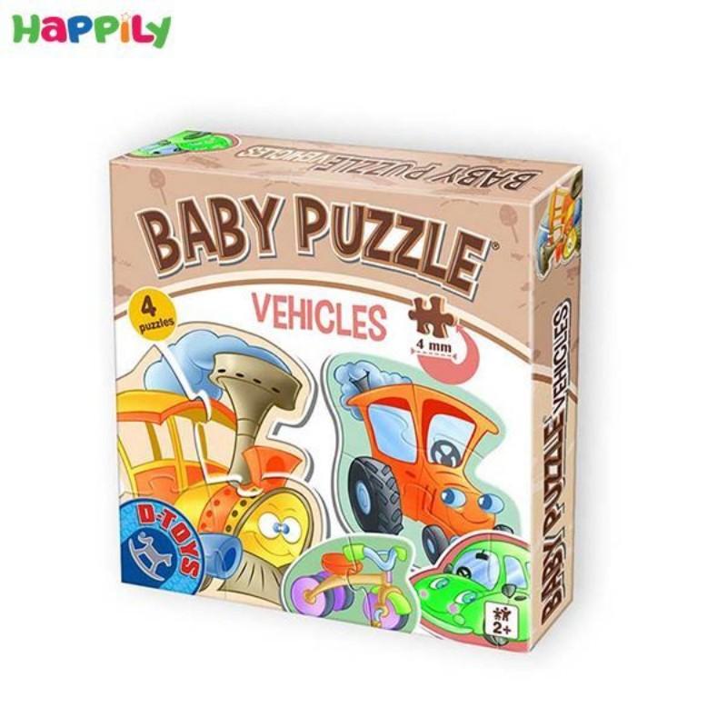 پازل D-Toys مخصوص کودکان طرح وسایل نقلیه 6 در 1 71279