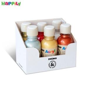 رنگ آکریلیک متالیک Primo بطری 125 میل 6 رنگ 402TA125ASS2