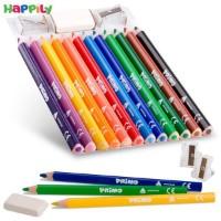 مداد رنگی Primo سه گوش 12 رنگ جامبو 518MAXITRIS12