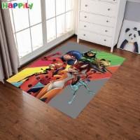 فرش اتاق کودک طرح catboy دختر کفشدوزکی و پسر گربه ای  52405