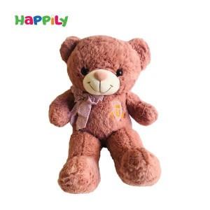 عروسک پولیشی خرس صورتی تیره  0010509