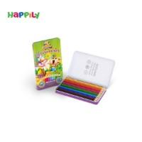 مداد رنگی 12 رنگ جعبه فلزی arzhang ارژنگ 3320