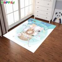 فرش اتاق کودک طرح animallsحیوانات در بالون  52411