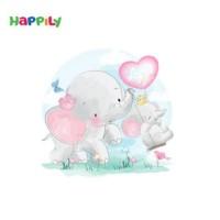 فرش اتاق کودک طرح تاب بازی فیل کوچولو  52415
