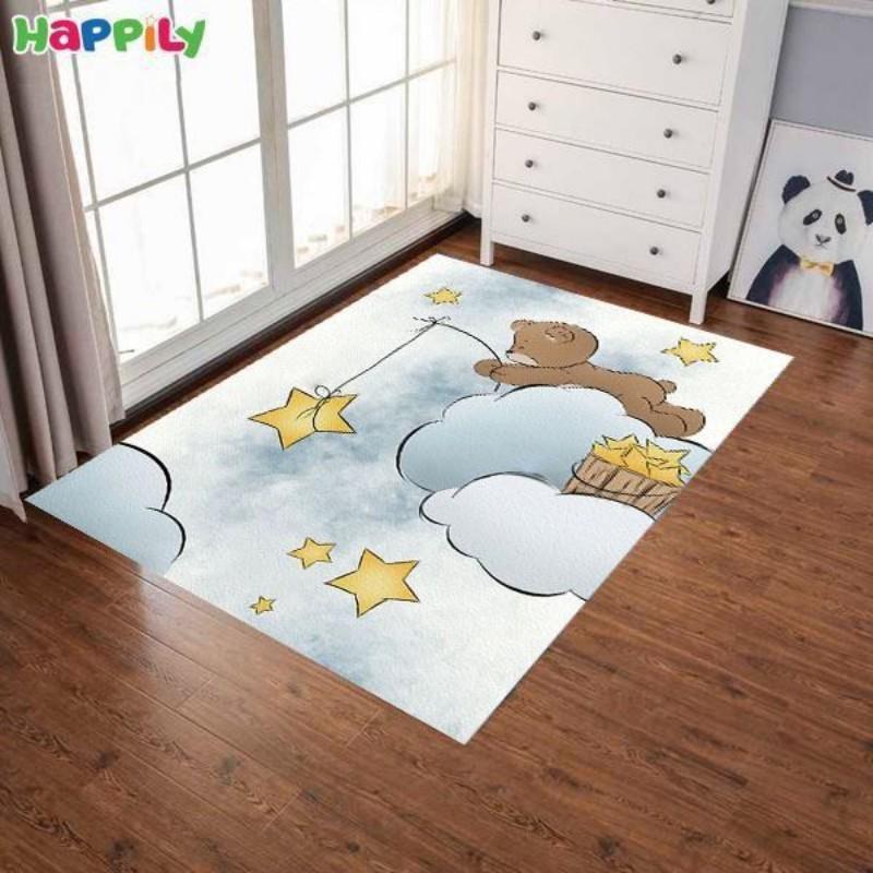 فرش اتاق کودک طرح  خرس و ستاره 52423