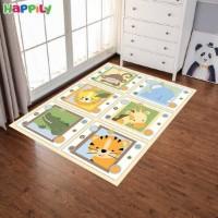 فرش اتاق کودک خرس و هلیکوپتر 52436